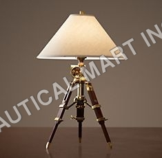ROYAL MARINE TRIPOD TABLE LAMP ANTIQUE BRASS