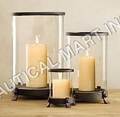 Rustic Hurricane Candle Holders