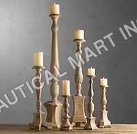 FLORENTINE CARVED WOOD CANDLESTICKS