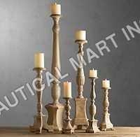 Florentine Carved Wood Candlesticks