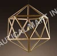 WOOD POLYHEDRON PENDANT LARGE