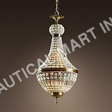 FRENCH EMPIRE CRYSTAL CHANDELIER SMALL