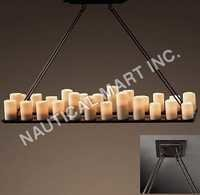 PILLAR CANDLE RECTANGULAR LARGE CHANDELIER
