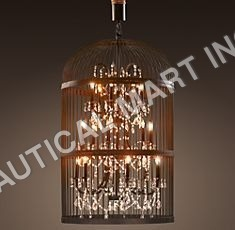 VINTAGE BIRDCAGE CHANDELIER SMALL