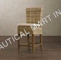 HANDWOVEN RATTAN SIDE CHAIR