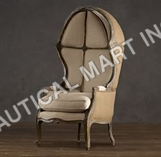 VERSAILLES   DOMED BURLAP-BACKED CHAIR