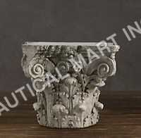 SCROLLING CORINTHIAN CAPITAL SIDE TABLE