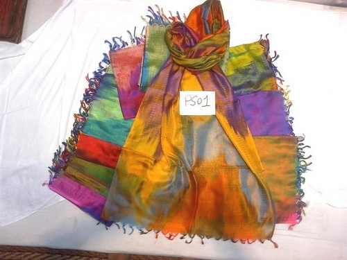 100% silk scarfs in rainbow designs