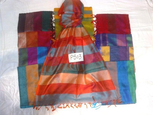 100% check silk scarfs