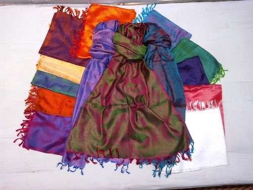 100% super silk soft scarfs of india