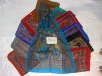 100% printed silk scarfs