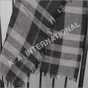 Wool Yarn Dyed Check Square Scarf