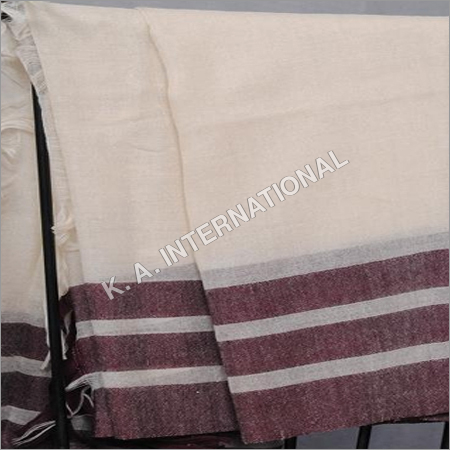 100 % Wool Yarn Dyed Check Stole