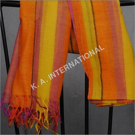 Wool Yarn Dyed Stripes Stoles