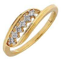 Ag Real Diamond Six Stones Charm Fashion Ring # AGSR0125
