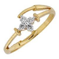 Ag Real Diamond Four Stones Glamorous Fashion Ring # AGSR0126