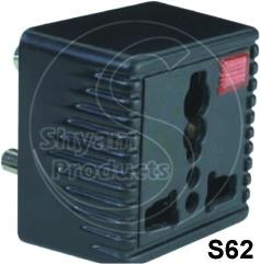 Universal Conversion Plug Sq. With Indicator 3 Pin