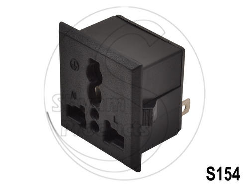 Snap Mounting AC Outlet Socket