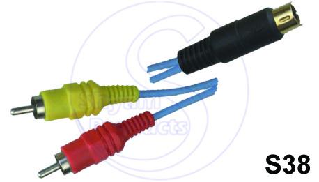 2RCA  4 Pin Mini Cord