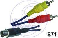 2 RCA  5 Pin Din Plug Cord