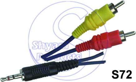 2 RCA  EP Sterio Plug Cord