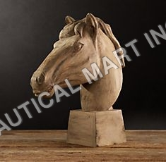 REALIST CARVED HORSE HEAD