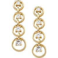 1/2 CT JOURNEY OF LIFE 14K GOLD DIAMOND EARRINGS # INTE003