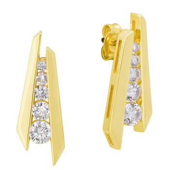 1/2 CT JOURNEY OF LIFE 14K GOLD DIAMOND EARRINGS # INTE004