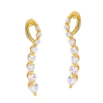 1/2 CT JOURNEY OF LIFE 14K GOLD DIAMOND EARRINGS # INTE008
