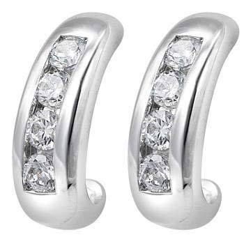 1/2 CT HOOP 14K GOLD DIAMOND EARRINGS # INTE010
