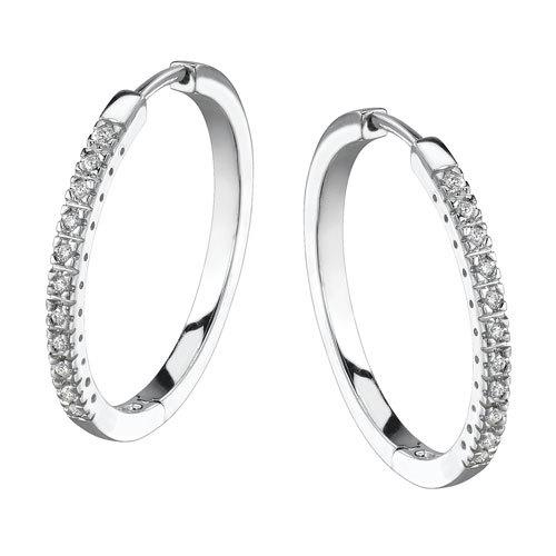 1/2 CT HOOP 14K GOLD DIAMOND EARRINGS # INTE013