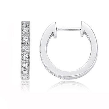 1/2 CT HOOP 14K GOLD DIAMOND EARRINGS # INTE017