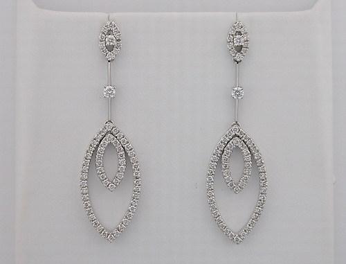 1.65 CT DIAMOND WHITE GOLD EARRINGS # INTE022