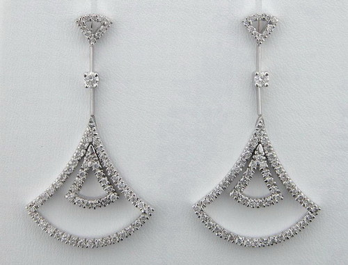 1.50 CT DIAMOND WHITE GOLD EARRINGS # INTE023