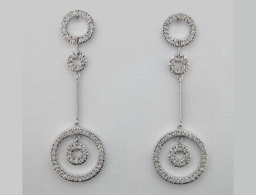 1.90 CT DIAMOND WHITE GOLD EARRINGS # INTE025
