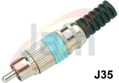 RCA  Co-Axial Plug (F)