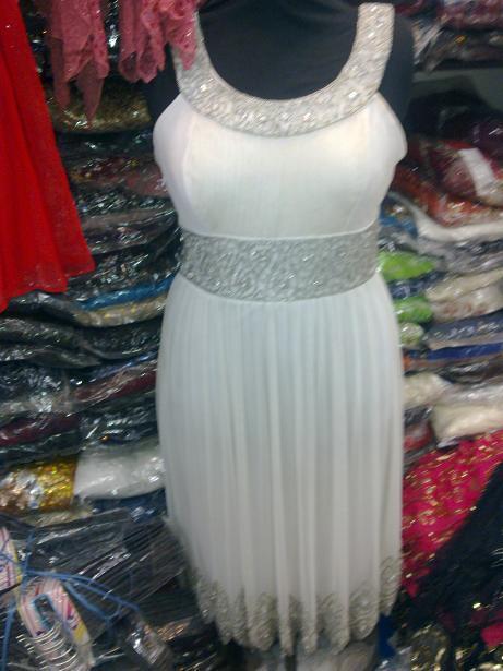 Beaded Work Short Dress Garments