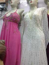 Beads work long dress
