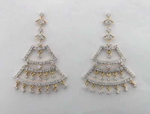 2.75 CT. DIAMOND YELLOW GOLD EARRINGS # INTE033