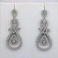 3.10 CT DIAMOND WHITE GOLD EARRINGS # INTE038