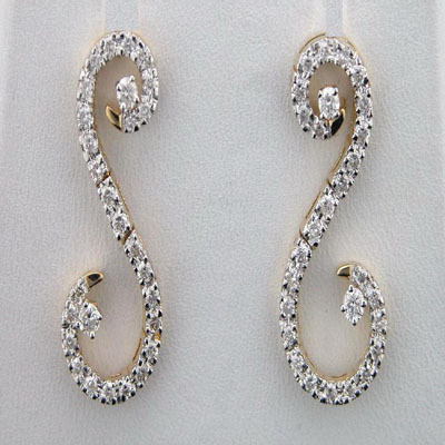 2.30 CT DIAMOND WHITE GOLD EARRINGS # INTE046