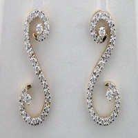 1.15 CT DIAMOND YELLOW GOLD ARRINGS # INTE047