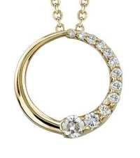 1.00 CT JOURNEY OF LIFE 14K GOLD DIAMOND PENDANTS