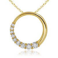 1/2 CT JOURNEY OF LIFE 14K GOLD DIAMOND PENDANTS