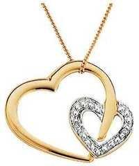 1/4 CT HEART OF LIFE 14K GOLD DIAMOND PENDANTS