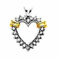 1/4 CT HEART OF LIFE 14K GOLD DIAMOND PENDANTS