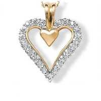 1/2 CT HEART OF LIFE 14K GOLD DIAMOND PENDANTS