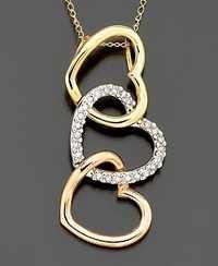 1/3 CT HEART OF LIFE 14K GOLD DIAMOND PENDANTS