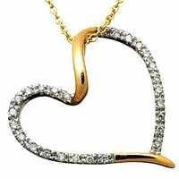 1/2 CT HEART OF LIFE 14K GOLD DIAMOND PENDANTS