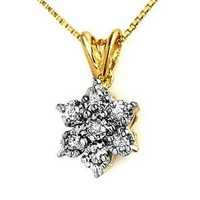 1/2 CT FASHION OF LIFE 14K GOLD DIAMOND PENDANTS